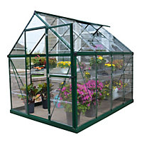 Palram Harmony Green Greenhouse - 6x8ft