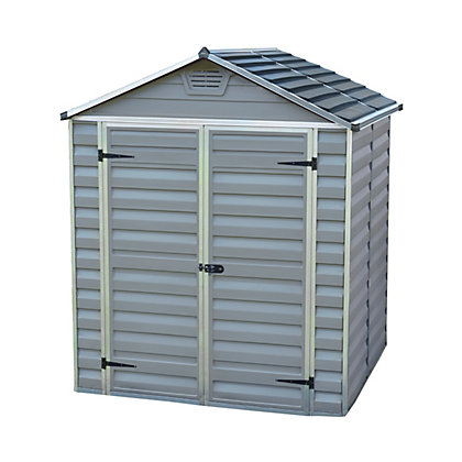 Image for Palram SkyLight Dark Grey Apex Shed - 6ft x 5ft from StoreName