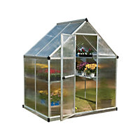 Palram Mythos Silver Greenhouse - 6x4ft