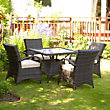 Dallas 4 Seater Rattan Effect Garden Furniture Set