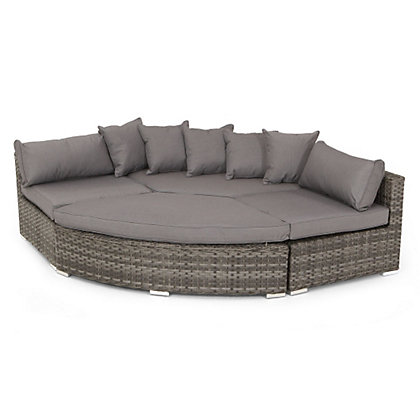Image For Grey Rattan Grand Corner Set From StoreName