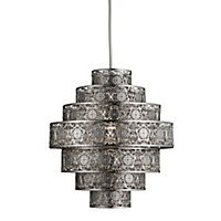 Moroccan Nickel Easy Fit Light Pendant