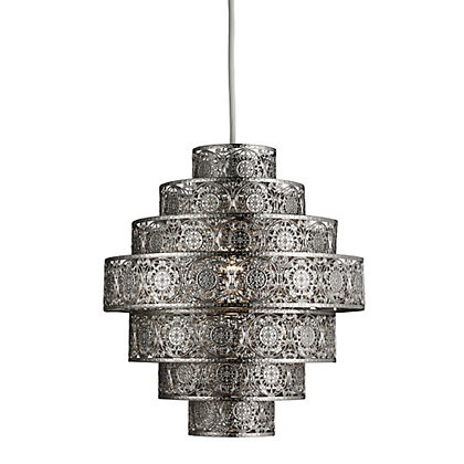 Image for Moroccan Nickel Easy Fit Pendant from StoreName