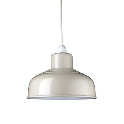 Image for Mini Industrial Cream Easy Fit Pendant from StoreName