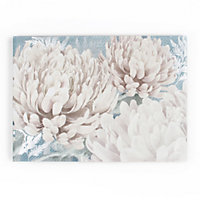 Teal Bloom Canvas