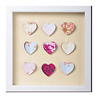 Hearts Corsage Framed Art