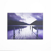 Purple Landscape Canvas