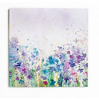 Watercolour Meadow Canvas