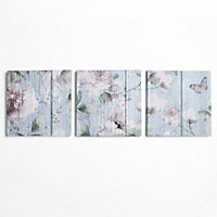 Flower Garden Canvas  - Set of 3