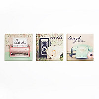 Retro Objects Canvas  - Set of 3