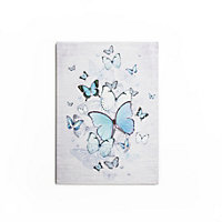 Teal Butterfly Canvas