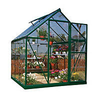 Palram Harmony Green Greenhouse - 6x6ft