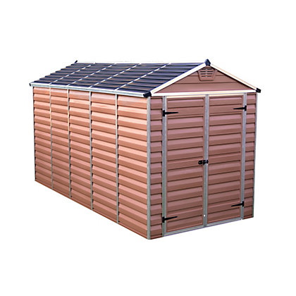 Image for Palram SkyLight Amber Apex Shed - 6ft x 12ft from StoreName