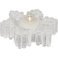 Glass Snowflake Shaped Tealight Holder