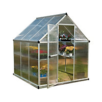 Palram Mythos Silver Greenhouse - 6x6ft