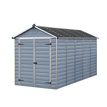 Image for Palram SkyLight Dark Grey Apex Shed - 6ft x 12ft from StoreName