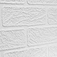 Superfresco Brick Effect Wallpaper - White