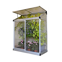 Palram Lean To Silver Grow House - 4x2ft
