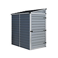 Palram Skylight Dark Grey Pent Shed - 4x6ft