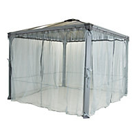 Palram Palermo Garden Gazebo Netting Set - Light Grey