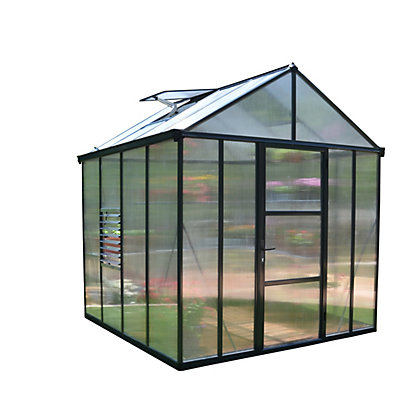 Image for Palram Glory Anthracite Greenhouse - 8x8ft from StoreName