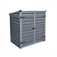 Palram Voyager Dark Grey Pent Shed - 4ft x 2ft