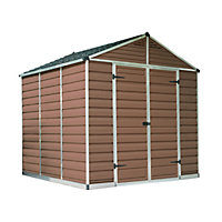 Palram SkyLight Amber Apex Shed - 8ft x 8ft