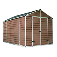 Palram SkyLight Amber Apex Shed - 8ft x 12ft