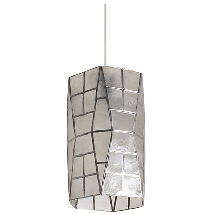 Image for Capiz Cylinder Clear Easy Fit Pendant from StoreName