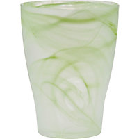 Green Twirl Glass Orchid Pot - 17cm
