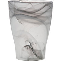 Dark Grey Night Twirl Glass Orchid Pot - 17cm