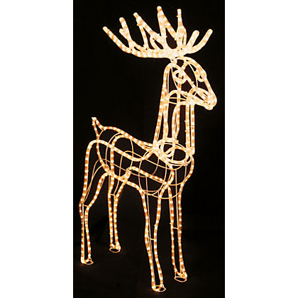 Clear Static Reindeer Christmas Silhouette Light