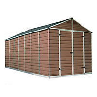 Palram SkyLight Amber Apex Shed - 8ft x 16ft