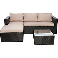 WOW Rattan Effect Garden Corner Sofa - Home Delivery