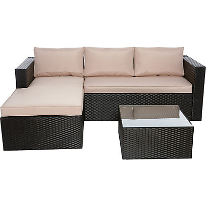 Image for WOW Rattan Effect Garden Corner Sofa - Home Delivery from StoreName