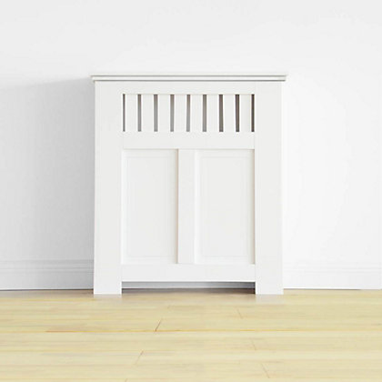 Image for Wilton Radiator Cabinet - Smooth White - (W)80 x (H)90 x (D)20cm from StoreName