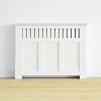 Wilton Radiator Cabinet Smooth White - (H)90 x (W)120 x (D)20cm
