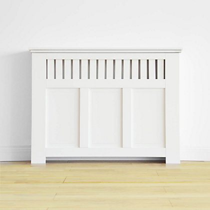 Image for Wilton Radiator Cabinet - Smooth White - (W)120 x (H)90 x (D)20cm from StoreName