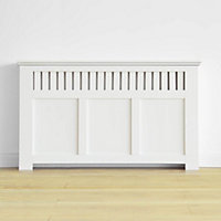 Wilton Radiator Cabinet Smooth White - (H)90 x (W)150 x (D)20cm