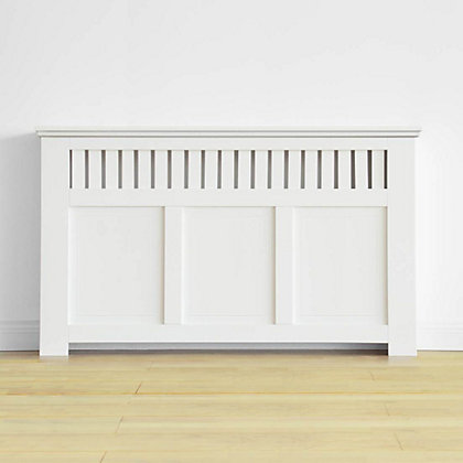 Image for Wilton Radiator Cabinet Smooth White - (H)90 x (W)150 x (D)20cm from StoreName