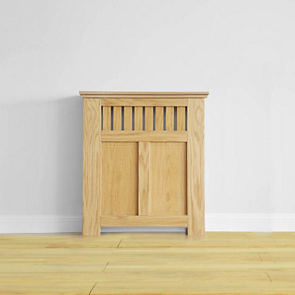Image for Wilton Radiator Cabinet - Oak Veneer - (W)80 x (H)90 x (D)20cm from StoreName