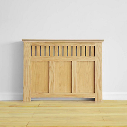 Image for Wilton Radiator Cabinet - Oak Veneer - (W)120 x (H)90 x (D)20cm from StoreName