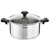 Tefal Comfort Max Stainless Steel 24cm Stewpot with Glass Lid