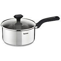 Tefal Comfort Max Stainless Steel 18cm Saucepan with Glass Lid