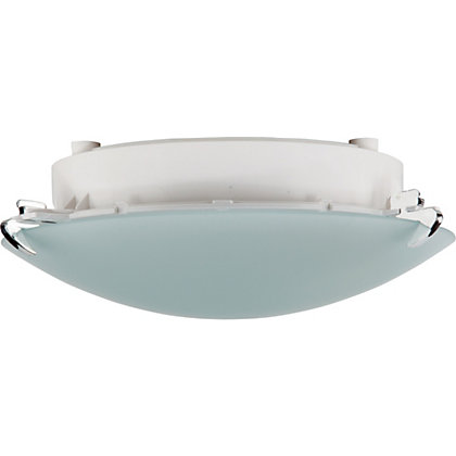 Image for Simone Plain Glass Flush Light from StoreName