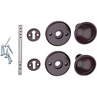 Universal Door Knob - Brown - 1 Pair