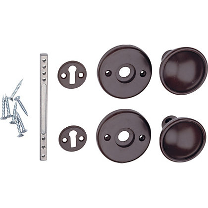 Image for Universal Door Knob - Brown - 1 Pair from StoreName