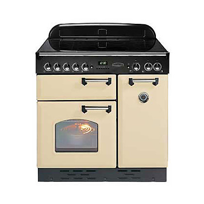 Image for Rangemaster Classic Electric Ceramic Cooker - Cream/Chrome from StoreName