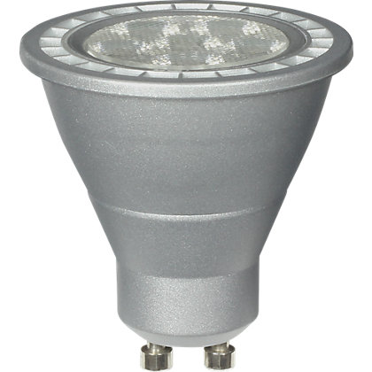 Image for Dimmable LED Silver GU10 5W Bulb from StoreName
