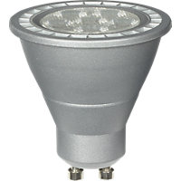 Dimmable LED Silver GU10 5W Bulb - Pack of 2